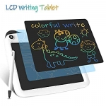 LCD Writing Tablets, Colorful Drawing Doodle Board 9 Inch Digital eWriter for Kids Portable Electronic Graphics WhiteLCD Writing Tablets, Colorful Drawing Doodle Board 9 Inch Digital eWriter for Kids Portable Electronic Graphics White