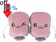 Toast USB Hand Warmers Cute USB Heating Gloves Half Wearable Fingerless 5V USB Powered Heated Hand Warmer Gloves with Gift Box for Women and Children Winter Fashion (Baby Pink) by Coeuspow